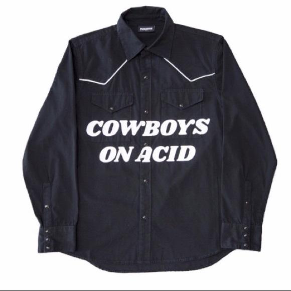 d36bb9b4 PLEASURES Cowboys on Acid Western Shirt - Medium. M_5c7cae01819e904b1c846e62